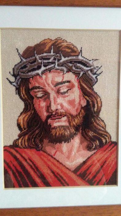 Hristos,tablou cusut goblen
