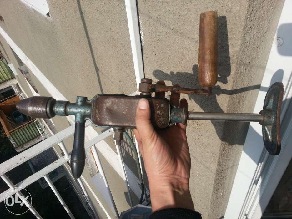 Masina gaurit manuala burghiu manual metal lemn mandrina reductor 1/8