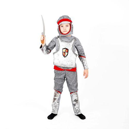 Costum serbare, carnaval NOU, Cavaler, soldat, cu sabie si cagula