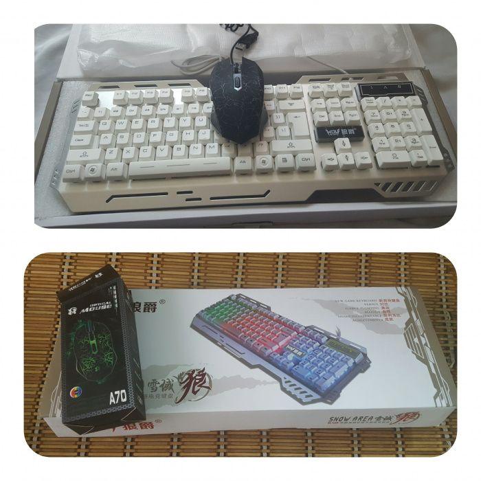 Kit Teclado e mouse gamers luminoso usb
