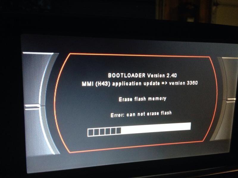 Audi MMI 2G MMI 3G RNS Bootloader COD PIN Eroare Update Soft Deblocare