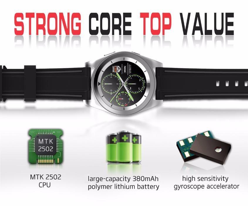 NO.1 G6 Bluetooth 4.0 Heart Rate Monitor Smart Watch - TPU STRAP