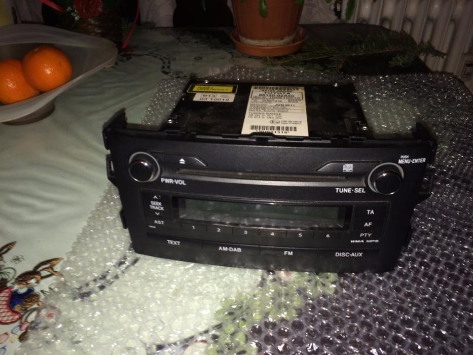 Sistem audio original Toyota Auris 2011, W53838, 13838; MP3