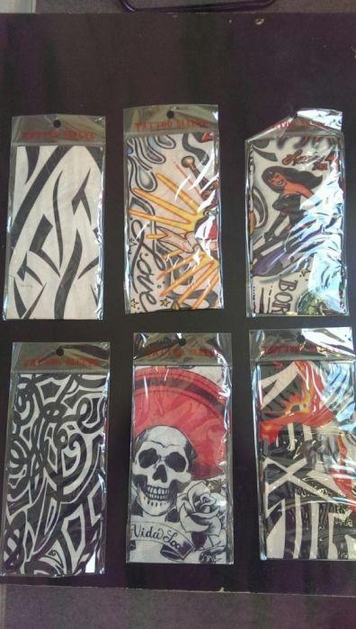 Различни фешън ТАТУИРАНИ ръкави.Мото-вело татуирани ръкави