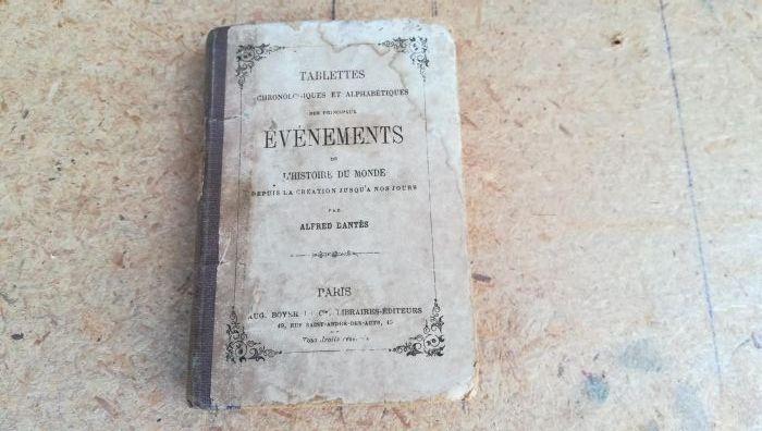 Cronica principalelor evenimente mondiale - ediție franceza 1879!!