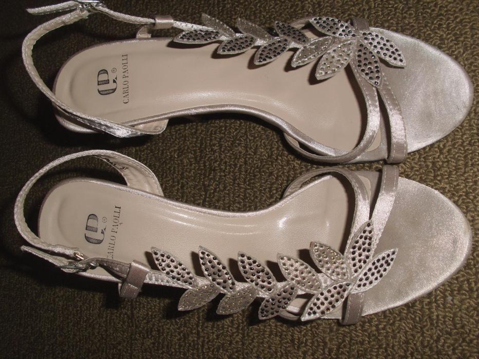 Сатенени дамски сандали