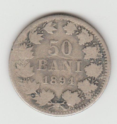 Moneda argint 50 bani 1894