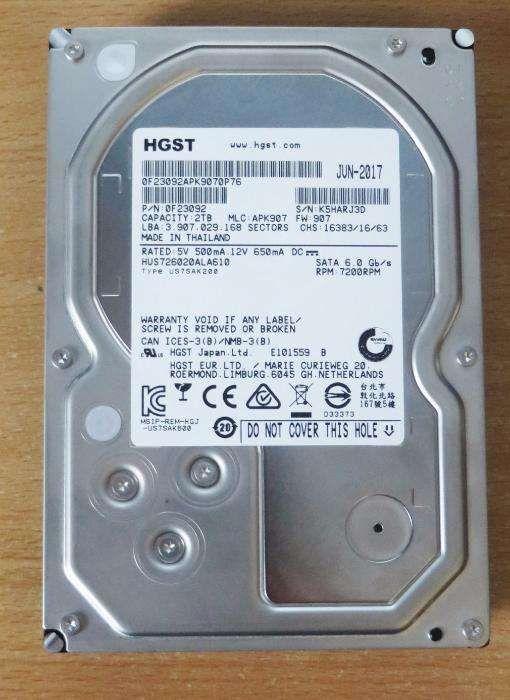 Hard disk HGST Ultrastar 7K6000 HDD 2TB, 128MB, 7200RPM SATA3