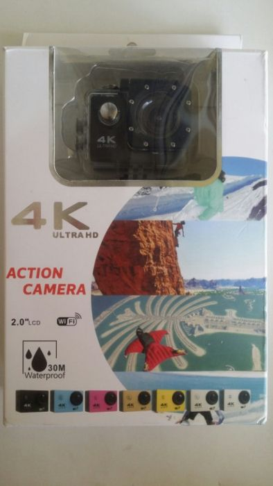 Action Camera 4K Ultra HD plus card 256GB