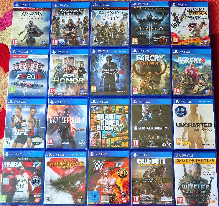Нови ps4,Fifa GTA KILLZONE KNACK Assassins Creed Фифа запечатани