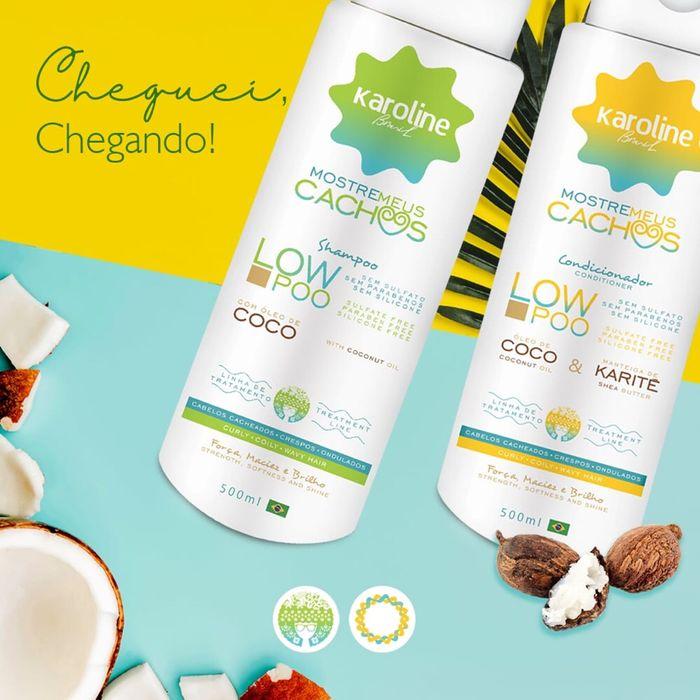 Kit de Shampoo e condicionador Karoline Brasil 500 ml