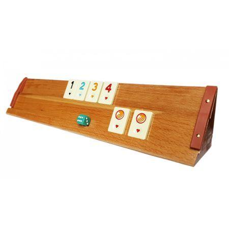 Joc Remi din lemn masiv lacuit Rummy Kardesler Luxury Style