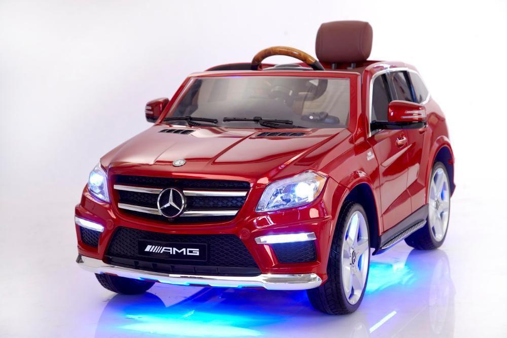 Акумулаторен джип Mercedes GL63 AMG с MP4 и кожена седалка