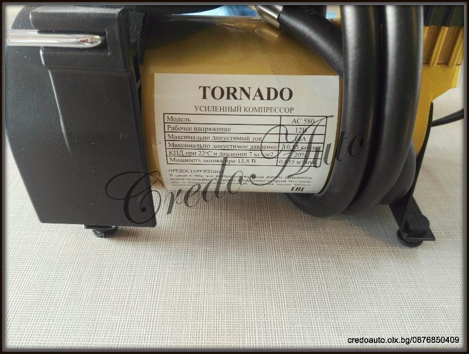 Автомобилен компресо за гуми TORNADO 12V