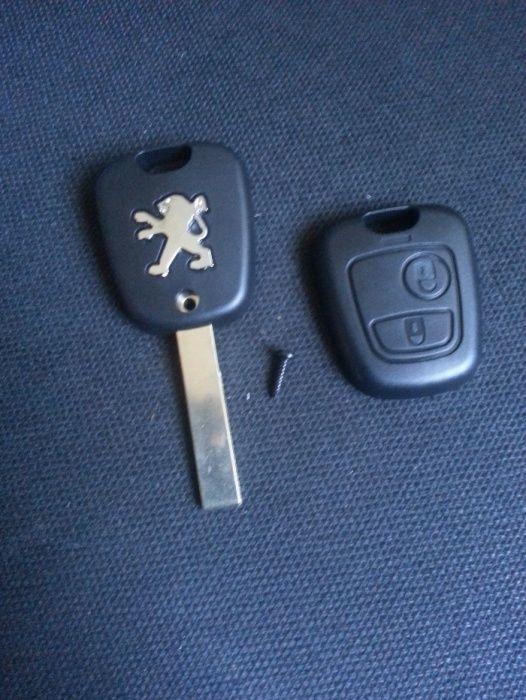 Carcasa cheie Citroen Peugeot - 2 butoane