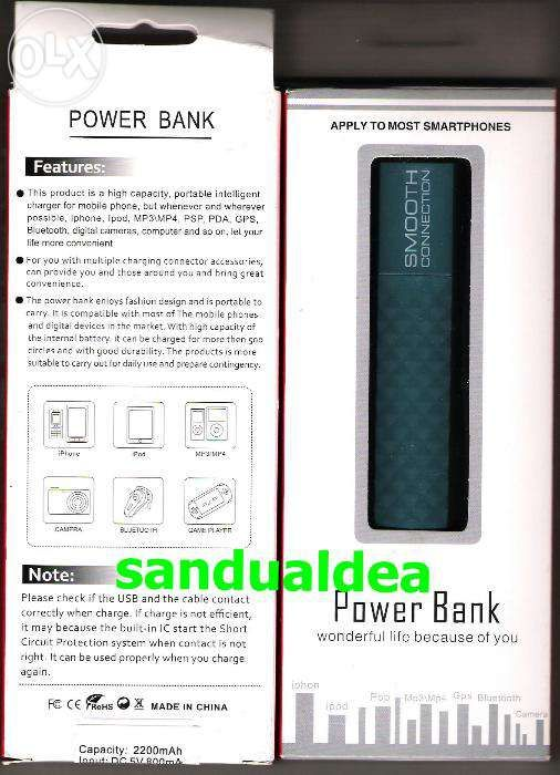 BATERIE EXTERNA (power bank) universala 2600mAh pentru iPhone, iPod