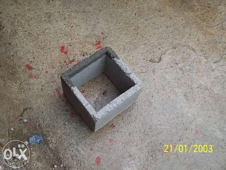 pătrate stâlpi gard tip 20 dim.20x20x20