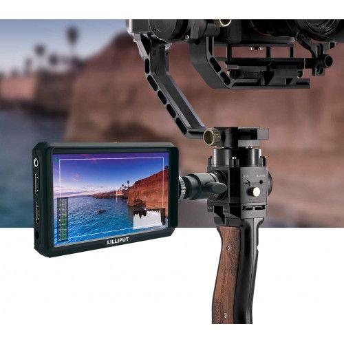 Monitor portabil Lilliput A5 5″ 4K HDMI pt macara, stabilizator
