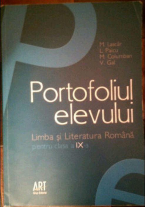 Portofoliul elevului-limba romana