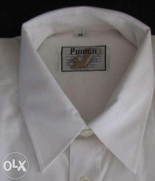 Бяла мъжка риза размер 39