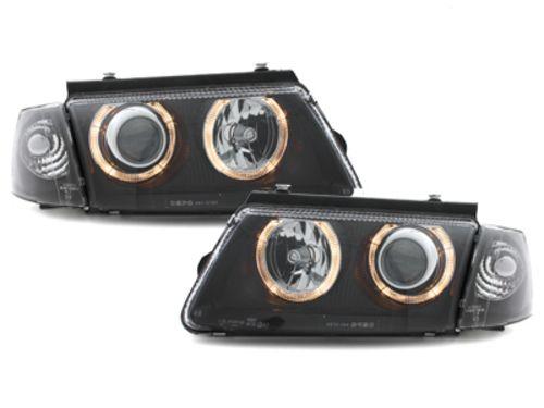 Faruri VW Passat 3B 96-00 pozitie angeleyes negru Depo