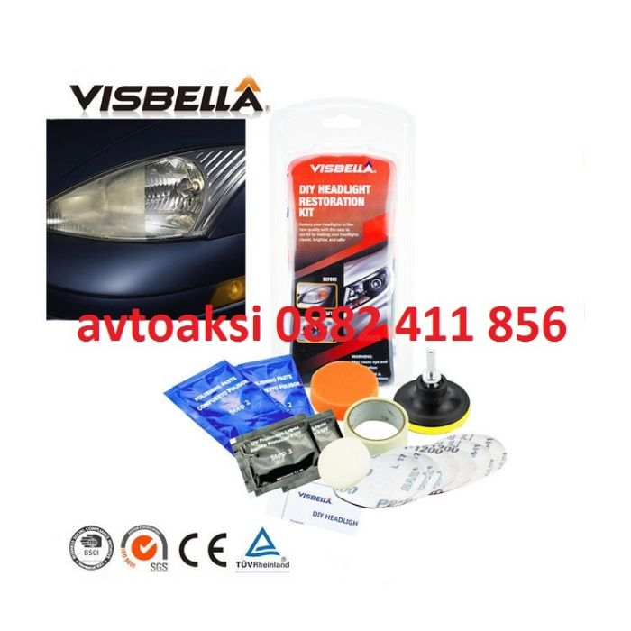 Комплект за почистване на фарове VISBELLA