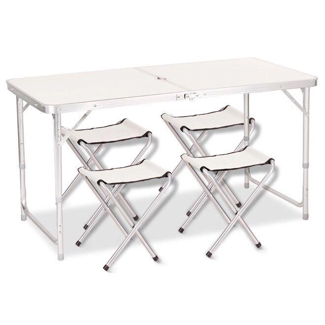 Складной стол с четырьмя стульями по низким ценам. Доставка бесплатно