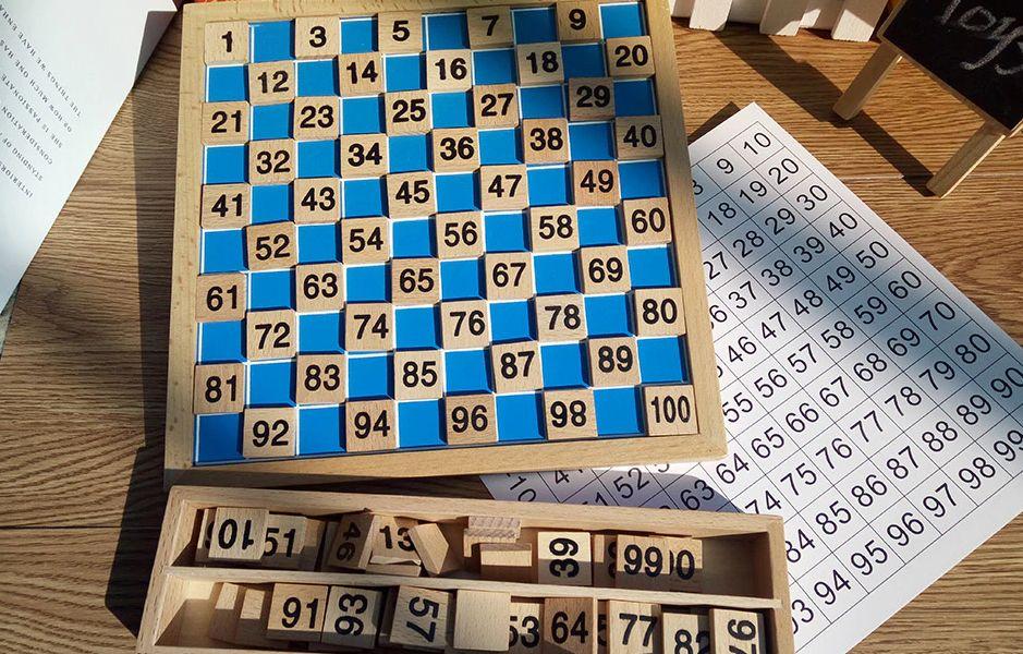 Дървена Монтесори математика от 1 до 100 всички дървени играчки