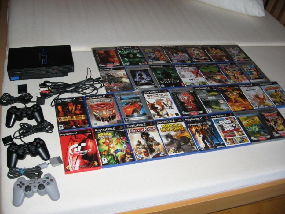 Ca Noua Sony Play Station Original nemodata 3contr.peste 30 jocuri