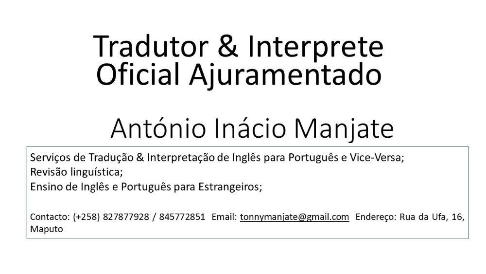 Servicos de Traducao e Interpretacao Ingles - Portugues
