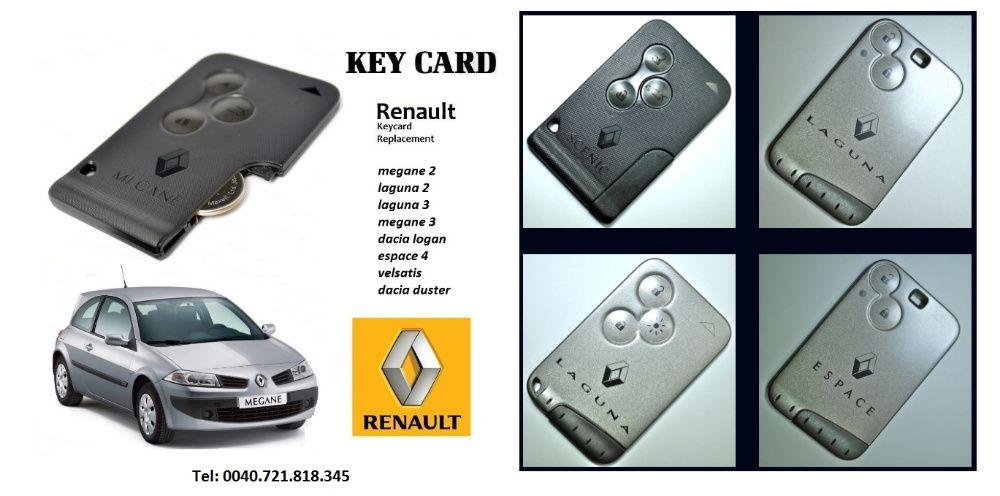 Cartela card Renault Laguna 2, adaptari sincronizari cartele Renault