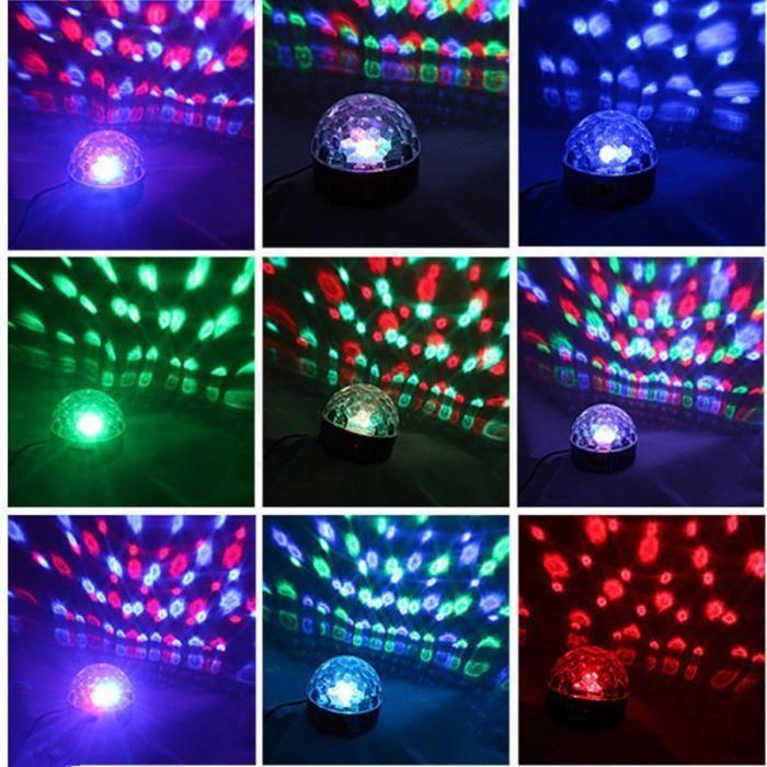 Светодиодный диско шар c USB - LED RGB Magic Ball Light светомузыка