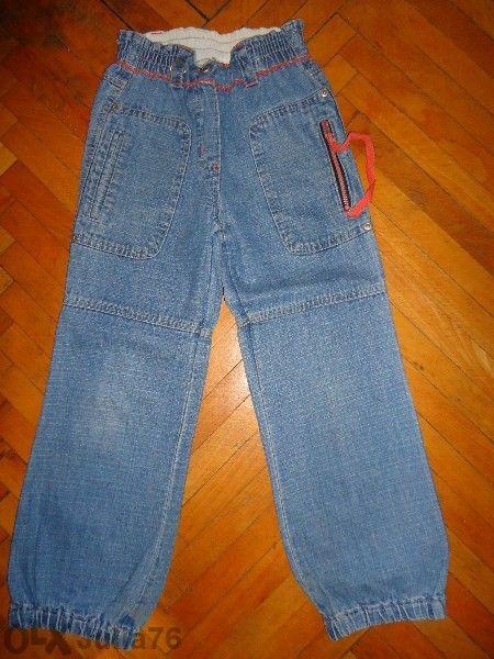 Дънки и ленен панталон за момиче