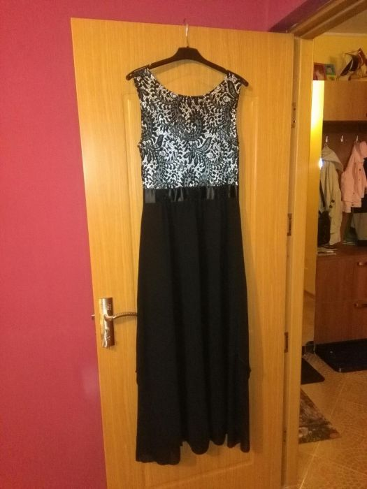 Rochie neagra, lunga, de ocazie, noua, marimea XL