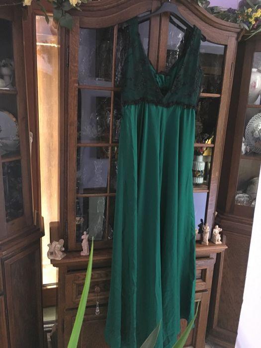Superba rochie de seara,Cristallini,verde smarald,impact vizual