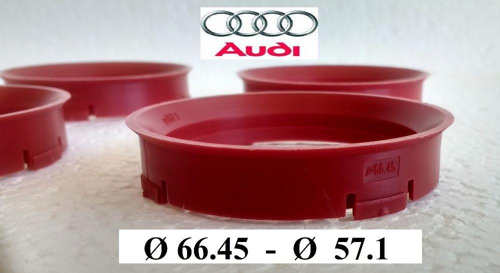 Inele de centrare ghidaj Audi Originale Noi Ø 66,45 la Ø 57.1