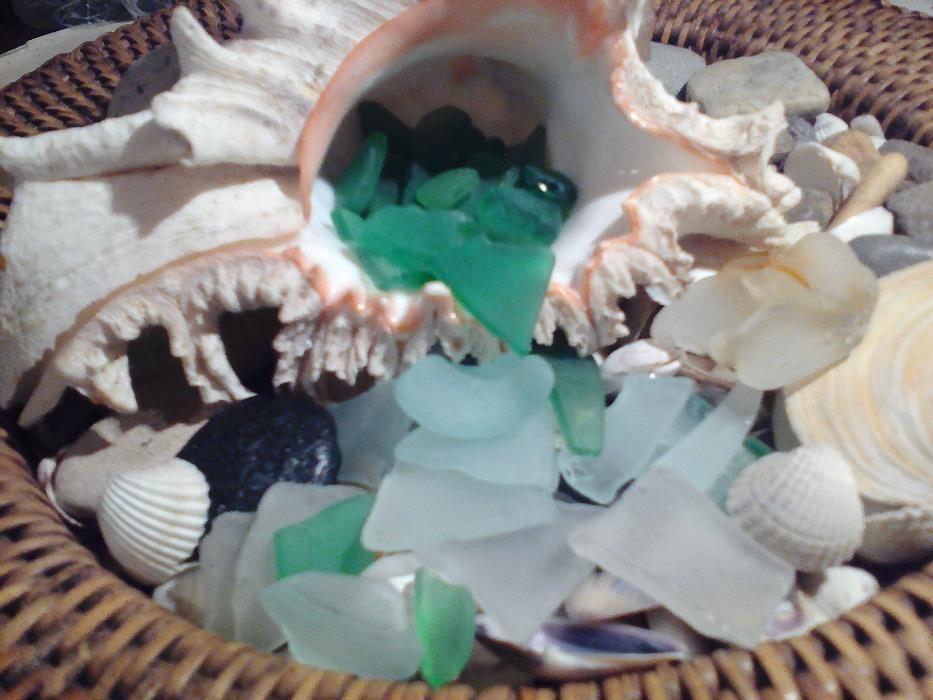 Натурално Морско Стъкло 20 бр. + Подарък