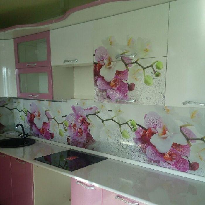 Кухонные фартуки из МДФ с УФ (UV) фотопечатью и УФ (UV) лакировкой
