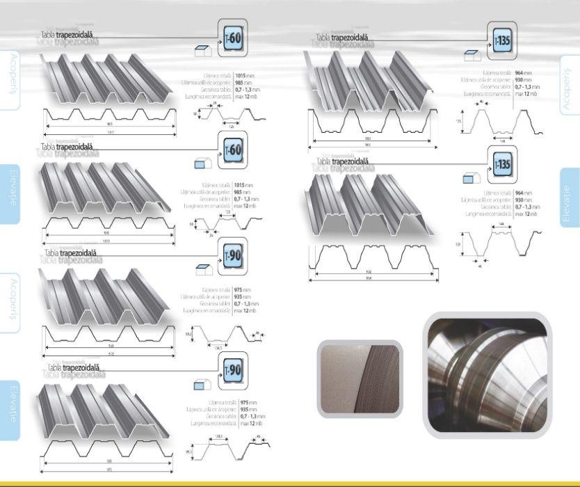 Tablă cutată T60 pt. depozite, hale industrial, construcții comerciale