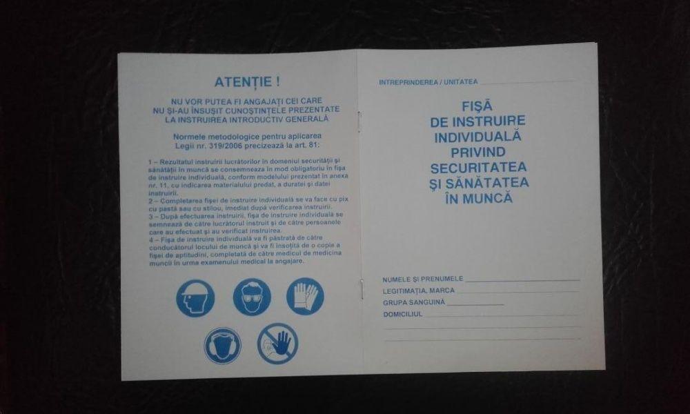 Fise de instructaj protectia muncii SSM si SU, Dosar medical