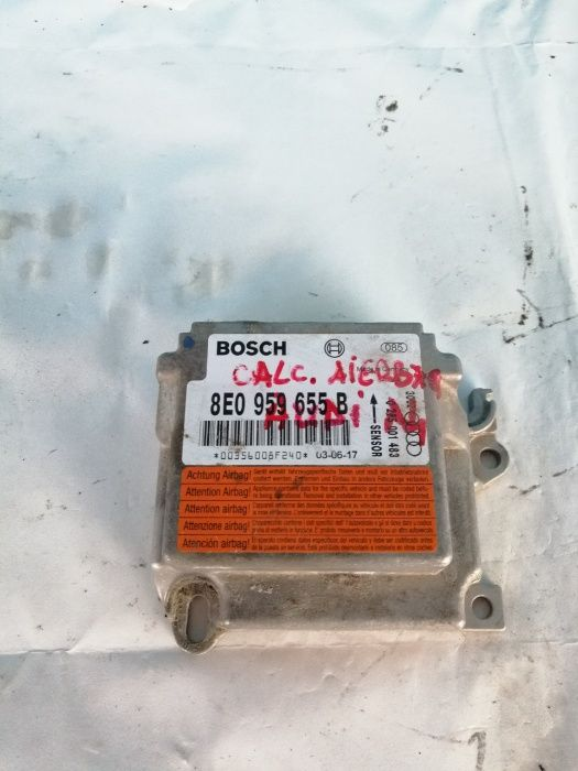 Vand unitate control Airbag, calculator modul, Audi A4, cod 8E0959655B