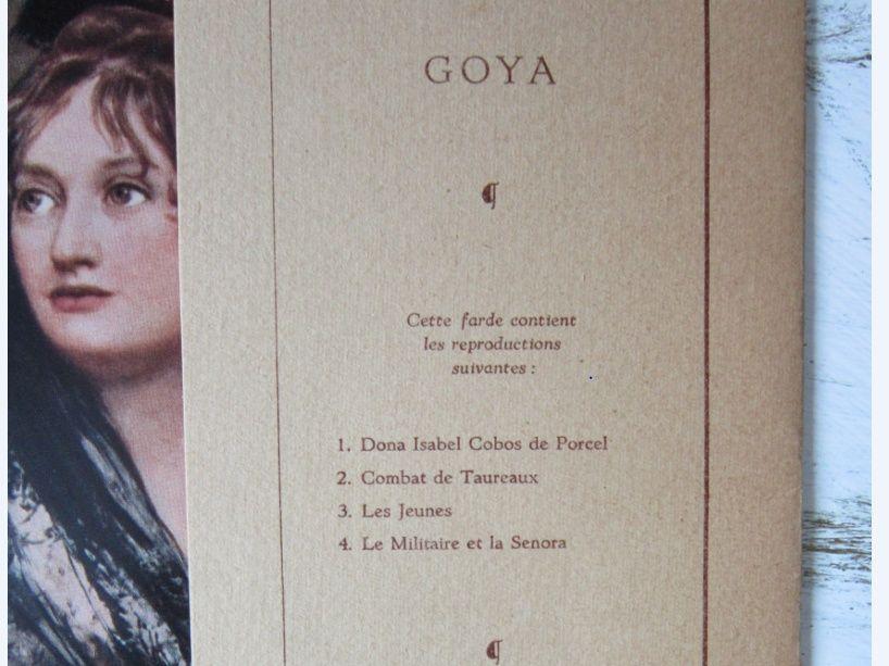 Litografii- Goya si Van Gogh -cu licenta SOUBRY 1958-un Cadou inedit