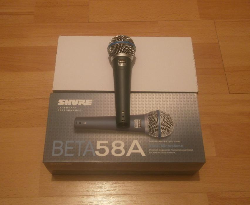 Microfon profesional Shure Beta 58A pentru scena