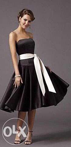Платье черное, midi, вечернее, выпускное