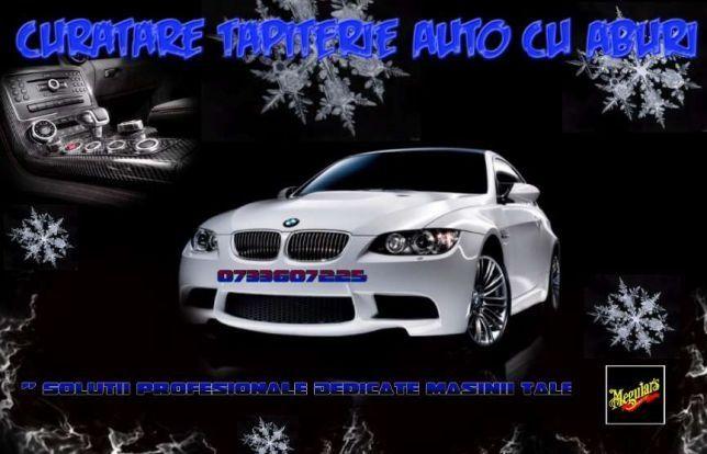 Curatare Tapiterie auto Cu Aspirator cu Aburi 280 lei -Bucuresti