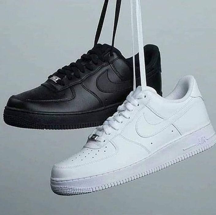 Adidasi unisex Nike Air Force One 1 Low alb negru marimi 36-44