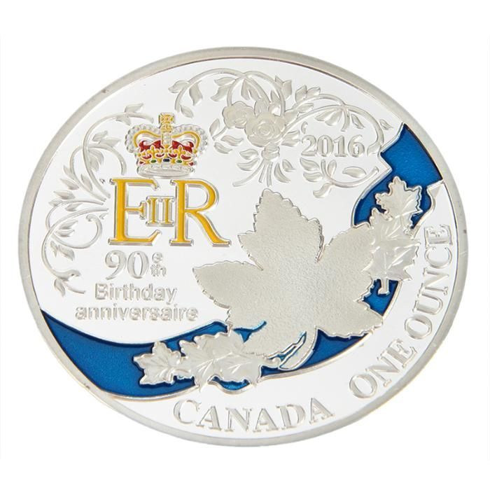 монета посребрена кралицата