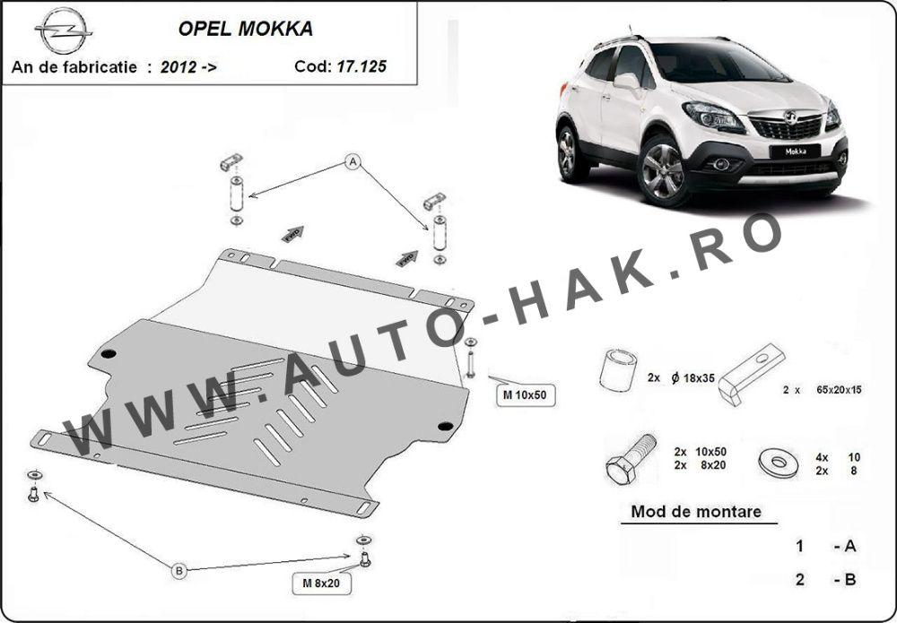 Scut motor metalic Opel Mokka 2012-prezent - otel 2mm