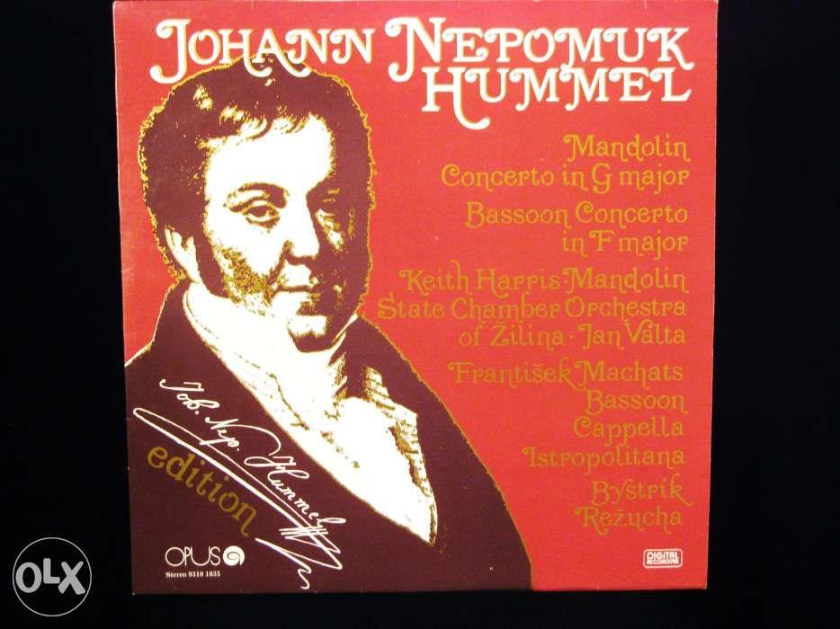 Disc Vinil pik-up JOHANN NEPOMUK HUMMEL Concert - 1987 Czechoslovakia