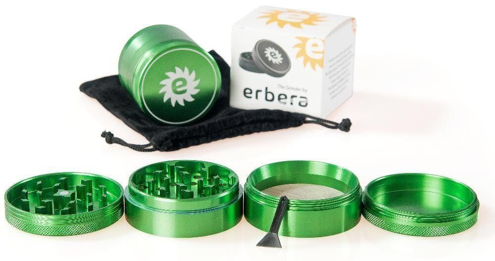 Grinder aluminiu, NOU, SIGILAT, 4 piese, verde, diametru 6.1 cm